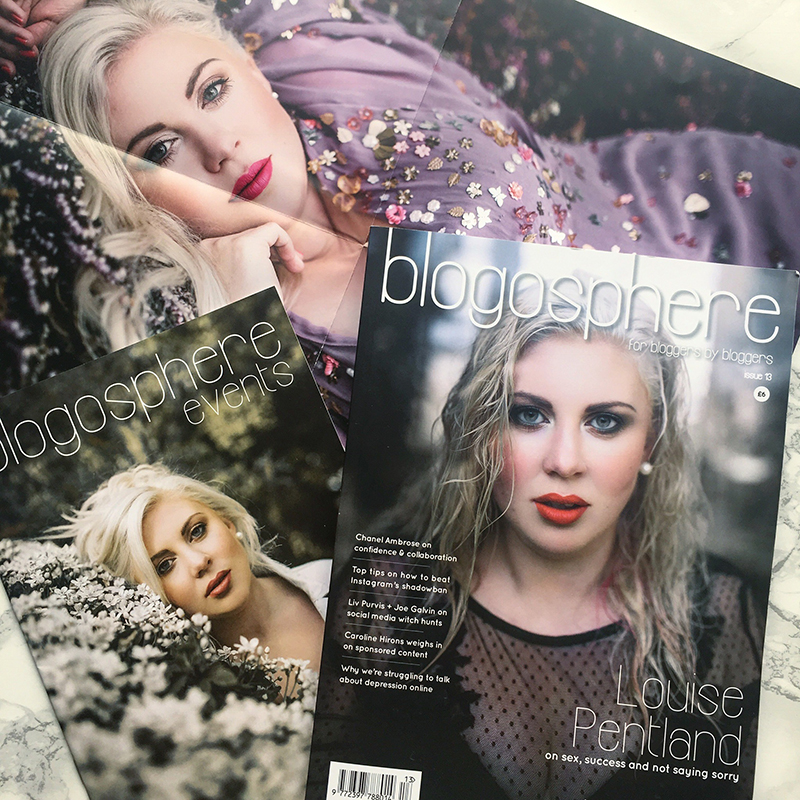 #BlogosphereCoverReveal - Blogosphere Magazine Issue 13 with Louise Pentland