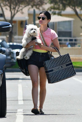 CelebPot: Lucy Hale Booty in Shorts, Stops by a Friend's House in ...