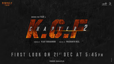 KGF 2 First Look to be out on December 21