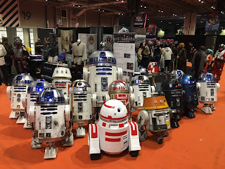 UK R2D2 Builders Club, MCM Birmingham, droids