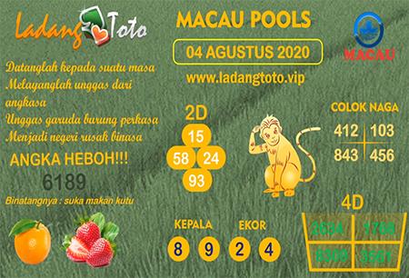 Prediksi Ladang Toto Macau Pools Selasa 04 Agustus 2020