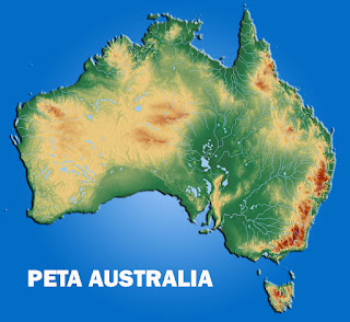 Gambar Peta Australia Relief