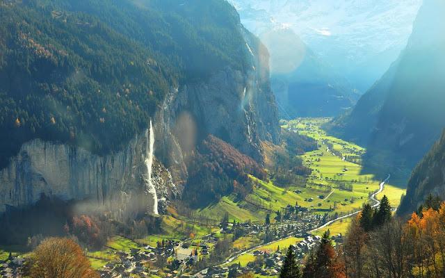 A Cascata de Staubbach Falls, Lauterbrunnen