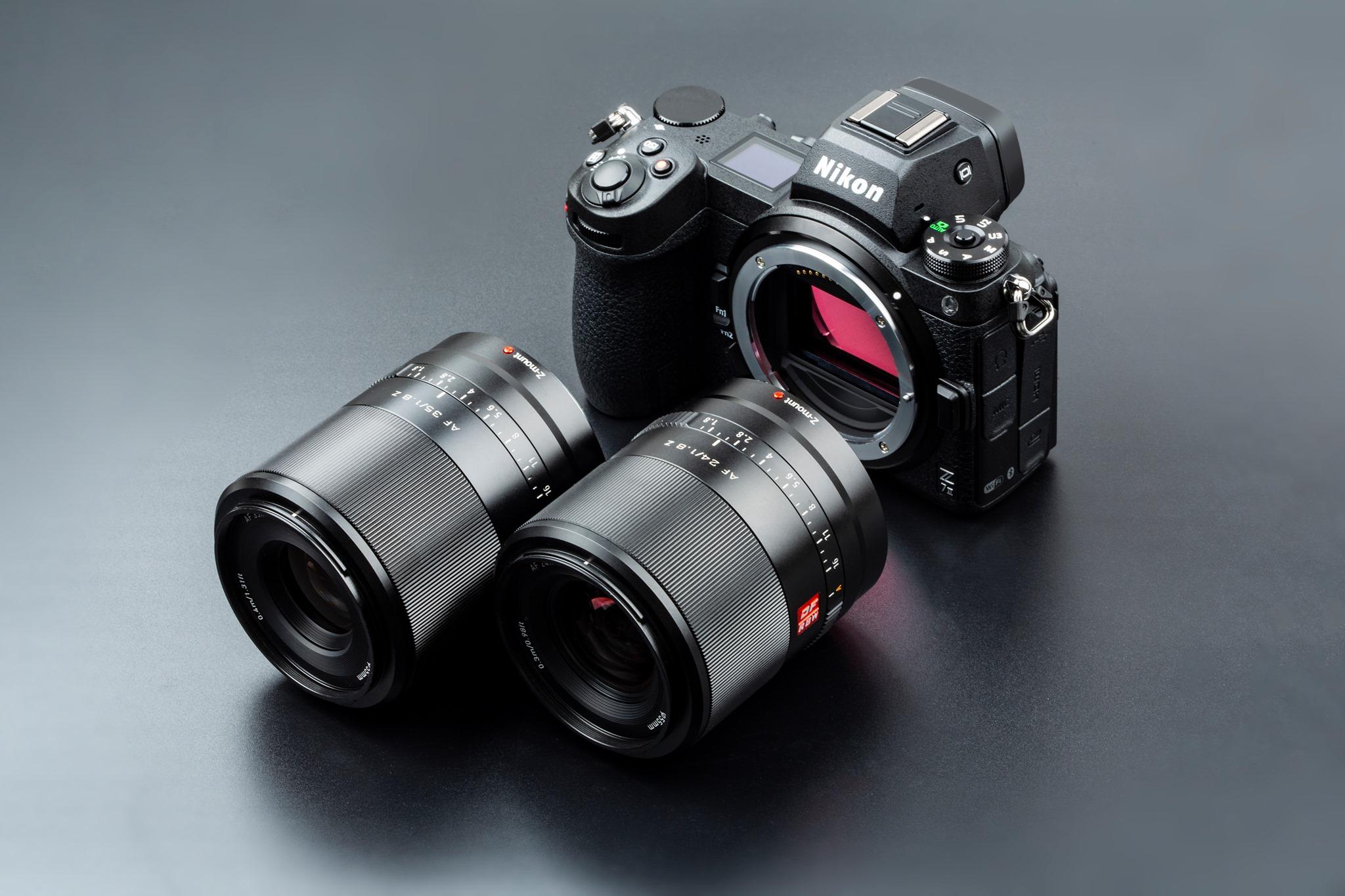 Объективы Viltrox AF 24mm f/1.8 Z и AF 35mm f/1.8 Z и камера Nikon Z7 II