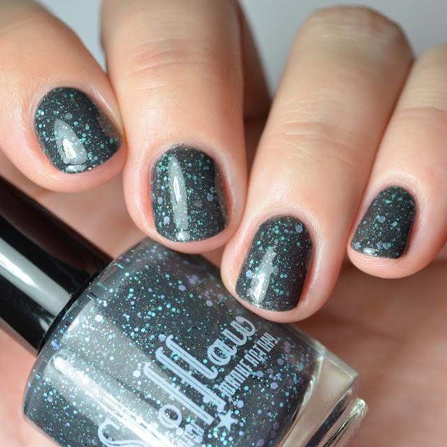 grey nail polish swatch
