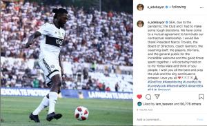 Ex-EPL star Emmanuel Adebayor reacts after leaving Paraguayan club