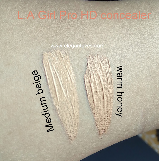 Swatch of L.A Girl Pro Conceal HD Concealer Medium Beige Warm Honey