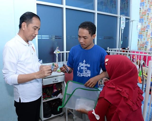 Presiden Sidak Layanan BPJS Kesehatan di RSUD Abdul Moeloek Kota Bandar Lampung