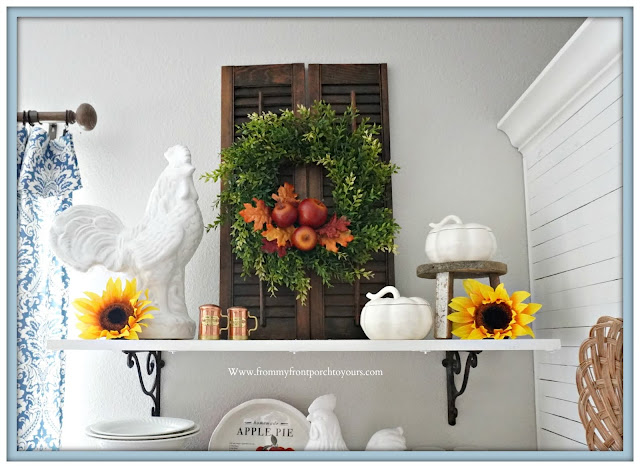 cottage farmhouse style fall decor-ironstone-From My Front Porch To Yours