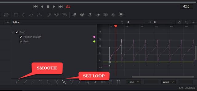 spline smooth set loop
