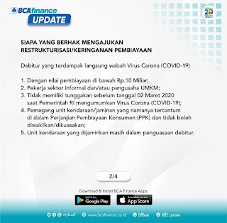 Syarat dan Ketentuan Yang Berhak Melakukan Pengajuan Keringanan Kredit di BCA Finance Indonesia