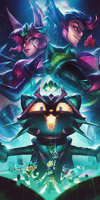 Battle Boss Xayah Rakan and Yuumi League Of Legends