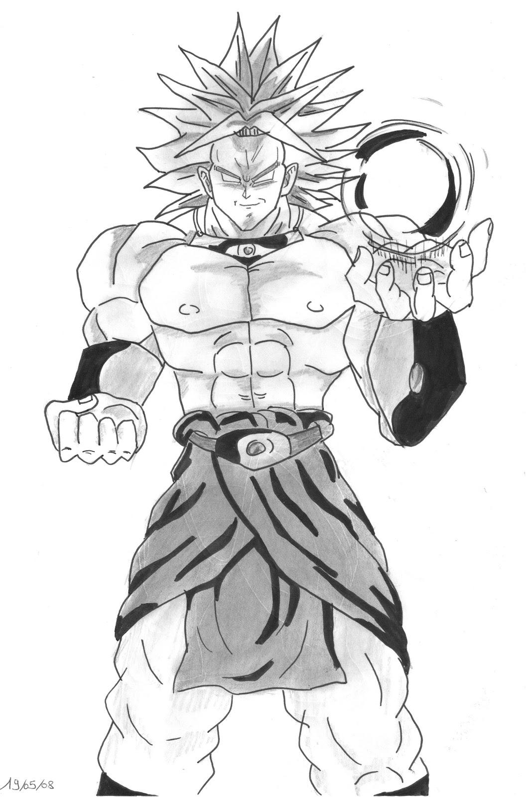 Image De Dragon Ball Z En Noir Et Blanc Image De