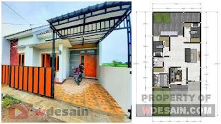 Desain rumah sederhana 7x15 meter