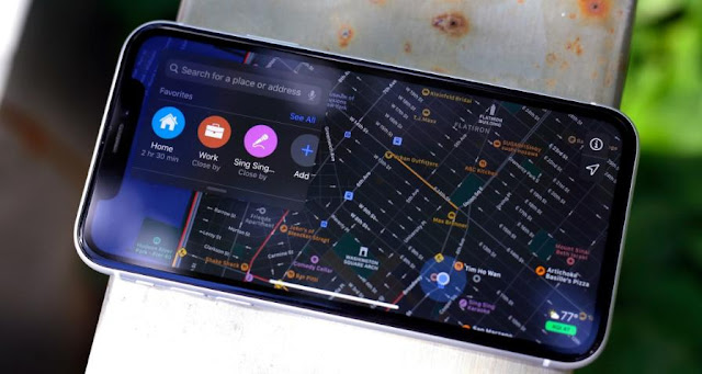 Apple Maps on the iPhone US