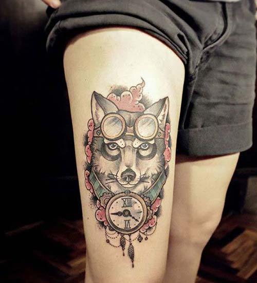 erkek üst bacak dövme modelleri man thigh tattoos 10