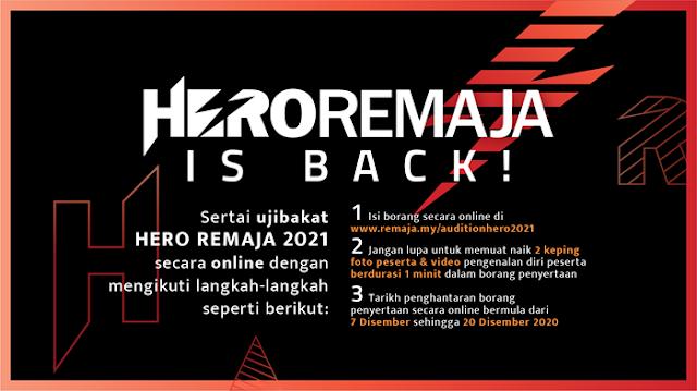 Pencarian Peserta Hero Remaja 2021 Kini Bermula!