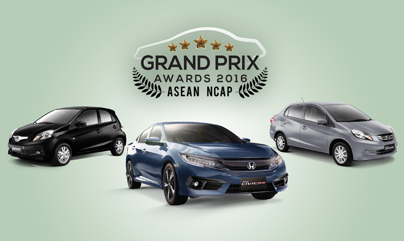 Honda prevails at the ASEAN NCAP Grand Prix Awards 2016