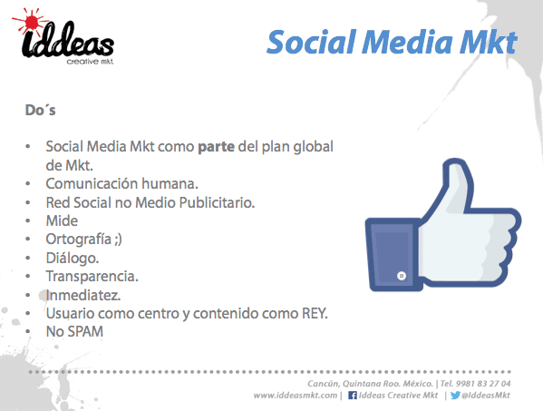 Lo que debes hacer social media marketing