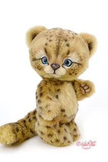 Artist teddy leopard, ooak snow leopard, cheetah, Gepard, teddy buy, teddy bear buy, kaufen Teddybär, handmade kitten, NatalKa Creations, teddies with charm, Teddy Katze, Teddy Leopard, Schnee Leopard, Irbis