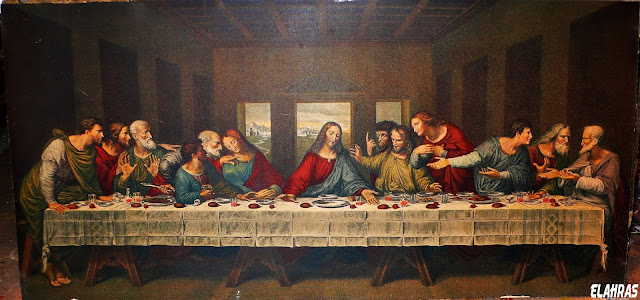 عيسى و حوارييه في العشاء الاخير