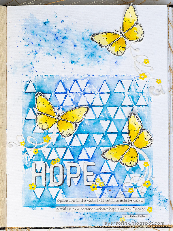 Layers of ink - Stencil and Scribble Sticks Background Tutorial by Anna-Karin Evaldsson.