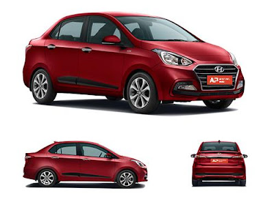 Hyundai Xcent all view image