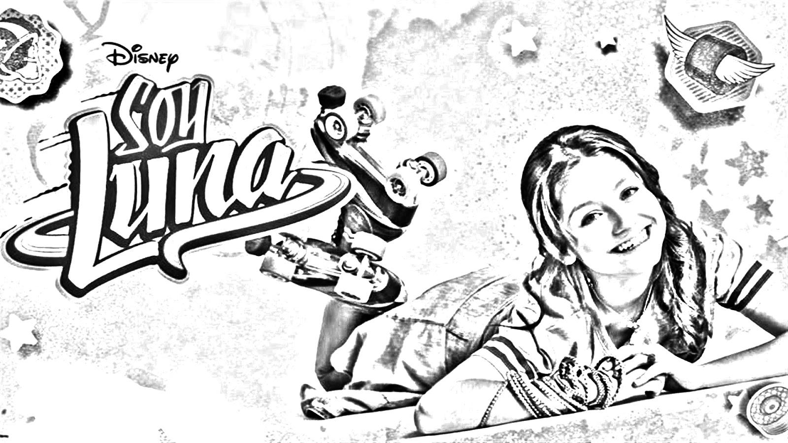 Pinto Dibujos: Soy Luna Para Colorear