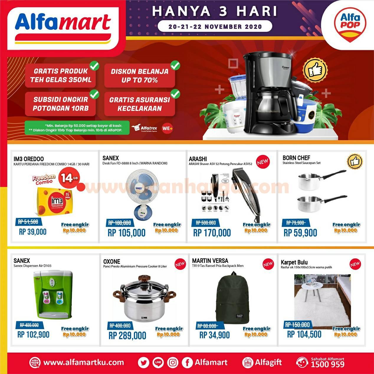 Alfamart Promo Jsm Alfapop 3 Hari: 20 - 22 November 2020