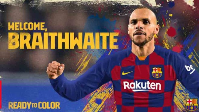 BREAKING: Barcelona sign Leganes' Braithwaite as Dembele's emergency replacement