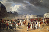 Invalid Handing a Petition to Napoleon at the Parade in the Court of the Tuileries Palace by Horace Vernet - History Paintings from Hermitage Museum