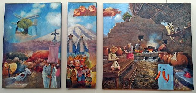 Pintura la óleo, Arequipa y sus sosctumbres.