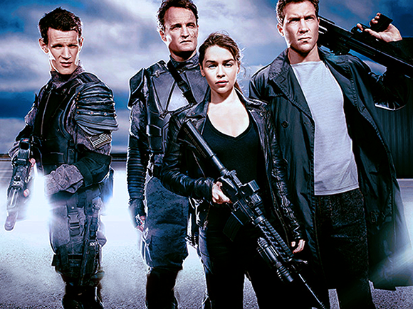 Matt Smith, Jason Clarke, Emilia Clarke şi Jai Courtney în Terminator: Genisys