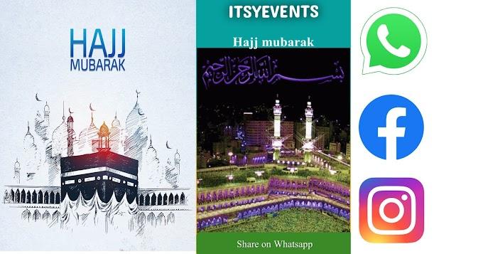 Wish Hajj Mubarak through WhatsApp