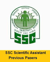 SSC Scientific Assistant Previous Papers