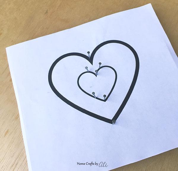 Heart String Art - A great beginner string art project