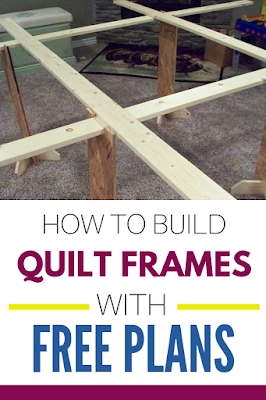 how to build quilt frames with free plans