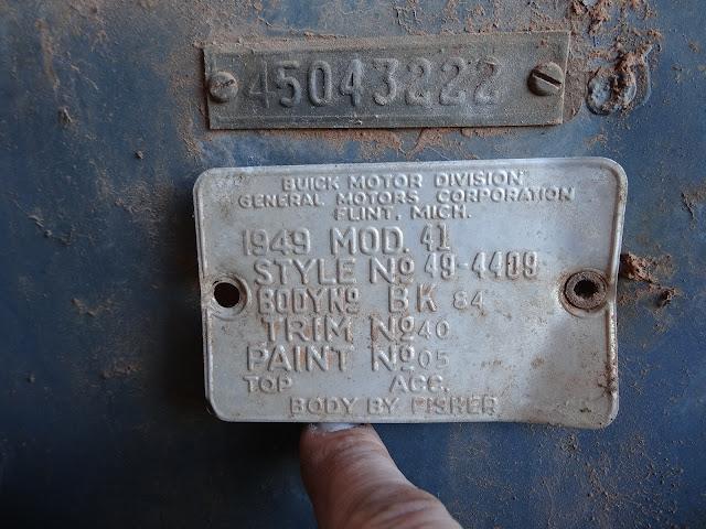 BuickBodyTag1949FischerBody