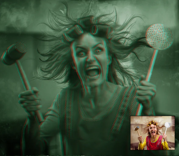 Download action to create horror photo effects