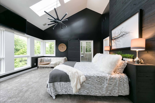 wall paint design ideas black and white