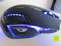 Licht: LIHAO E-3lue® MAZER-R EMS152 Gaming Maus kabellos 2.4GHZ 2500DPI, USB, LED
