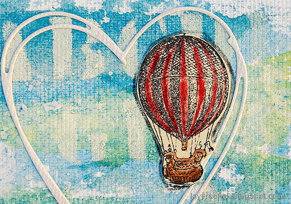 Layers of ink - Sing Art Journal Page by Anna-Karin Evaldsson. Hot-air balloon.