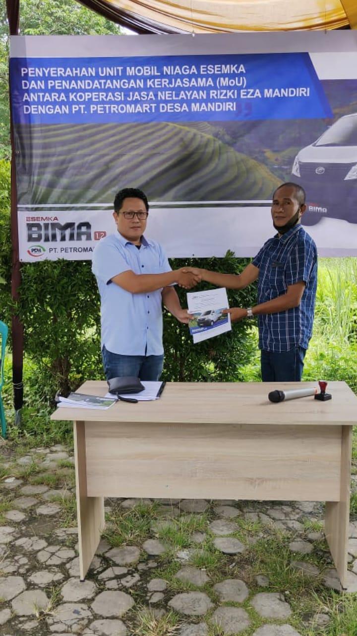 Agung Fitriansyah Selaku Fleet & Government Sales Area Lampung, Serah Terima Unit Esemka Bima dan MOU Koperasi Nelayan Rizki Eza Mandiri