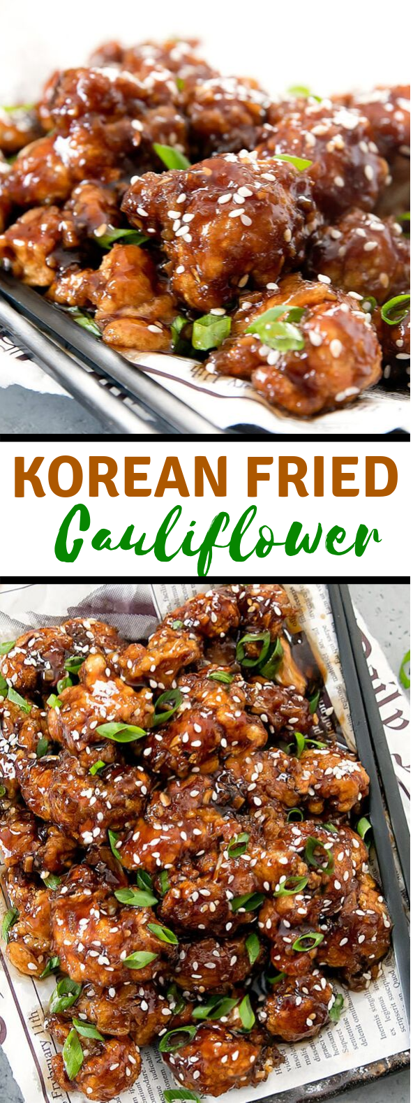 KOREAN FRIED CAULIFLOWER #vegetarian #friedchicken