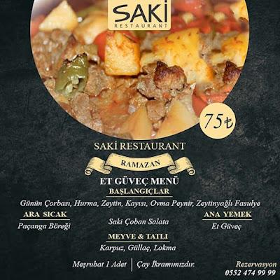 saki restaurant menu fiyat denizli iftar yapılacak yerler denizli iftar mekanı