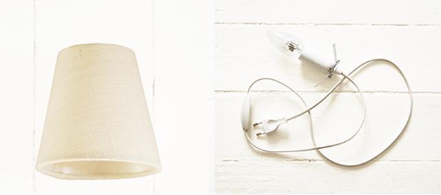 Diy tutorial para hacer una bonita l mpara de pared el for Lampara blanca ikea
