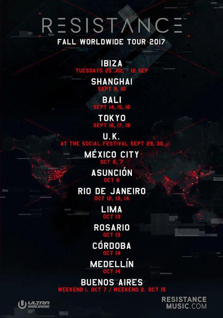 Ultra Worldwide's RESISTANCE Announces Massive Fall Tour