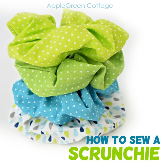Learn how to make a scrunchie for your hair ~ tutorial by AppleGreen Cottage