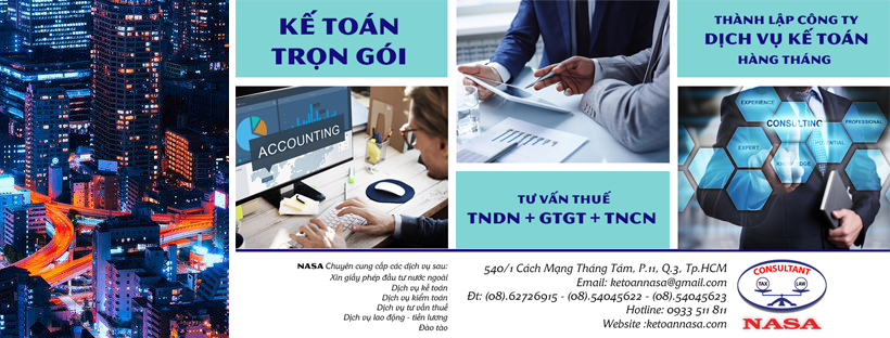 Bảng giá dịch vụ kế toán, thành lập doanh nghiệp trọn gói, uy tín cho doanh nghiệp tại TpHCM, Bình Dương, Đồng Nai, Long An,...