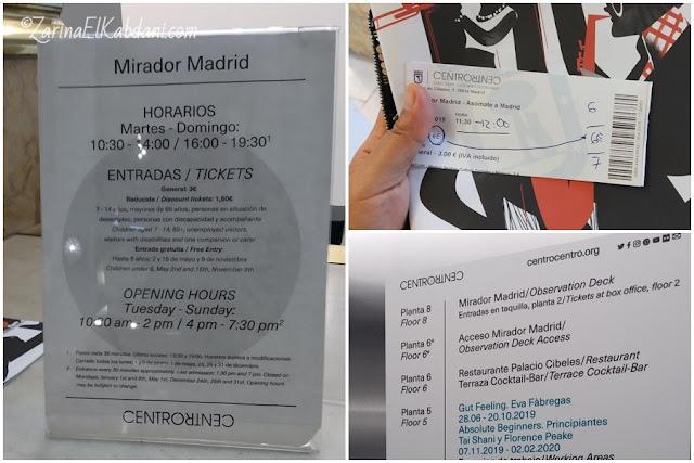 Waktu masuk dan harga tiket di CentroCentro Madrid